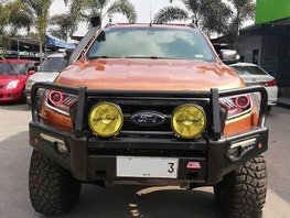 Selling Orange Ford Ranger 2015 at 28000 km