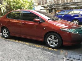 Red Honda City 2009 at 94000 km for sale