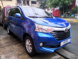 Selling Blue Toyota Avanza 2016 Manual at 27000 km