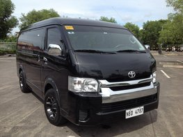 Selling Black Toyota Hiace 2019 at 18000 km in Lucena