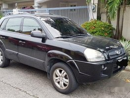 Black Hyundai Tucson 2006 at 102000 km for sale
