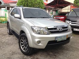 Selling Silver Toyota Fortuner 2008 Automatic Gasoline in Lucena