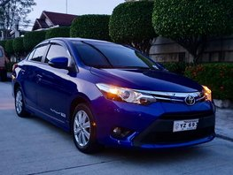 Blue 2016 Toyota Vios at 40000 km for sale in Quezon City