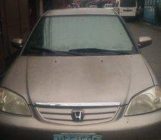 Beige Honda Civic 2001 Automatic Gasoline for sale