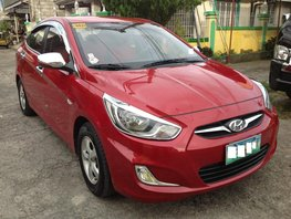 Selling Red Hyundai Accent 2013 at 48000 km in Lucena