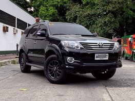 Black 2015 Toyota Fortuner for sale in Quezon City
