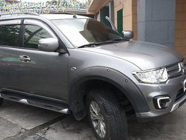 Grey Mitsubishi Montero Sport 2015 Manual Diesel for sale