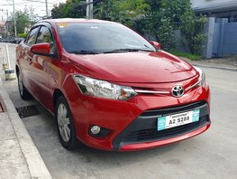 Red 2018 Toyota Vios Automatic for sale in Quezon City