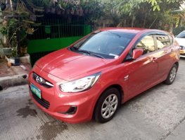 Red 2013 Hyundai Accent Manual Diesel for sale