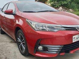 Red Toyota Corolla Altis 2018 Manual Gasoline for sale