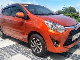 Orange Toyota Wigo 2019 Hatchback for sale in Pampanga