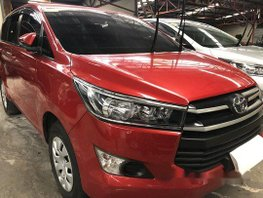 Red Toyota Innova 2018 Manual Diesel for sale
