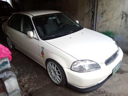 Selling White Honda Civic 1996 Automatic Gasoline in Caloocan