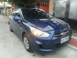 Sell Blue 2016 Hyundai Accent Automatic at 18000 km