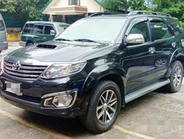 Black Toyota Fortuner 2014 for sale in Manila