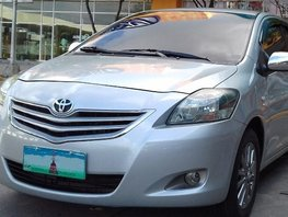 Silver 2013 Toyota Vios for sale in Cebu
