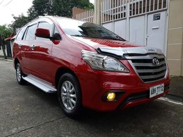 Red 2015 Toyota Innova Manual Diesel for sale