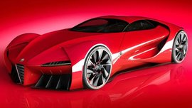 "Alfa Romeo 6C Disco Volante - a ""spaceship"" car from the future"