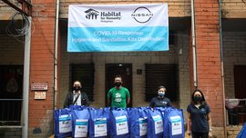 Nissan PH, Habitat for Humanity donate hygiene and sanitation kits