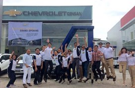 Displays of Chevy cars at the latest Chevrolet GenSan