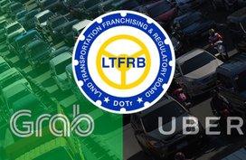LTFRB to order deactivation of 50,000 Uber/Grab vehicles