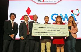 Mitsubishi and GMA Kapuso to replace a broken bridge