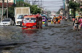 DPWH opened two addition vehicular lanes and flood control project