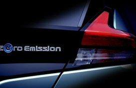 2018 Nissan Leaf teased again