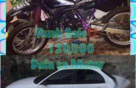 Hyundai Accent Car and Yamaha DT Motor