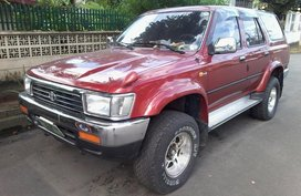 2002 Toyota Hilux SURF 4x4 Diesel MATIC Red For Sale