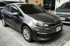 Kia Rio Ex 2016 Gray Sedan Manual Financing Accepted for sale