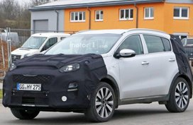 Spy shots of the Kia Sportage 2019 facelift