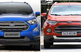 Spot the changes side-by-side: Ford EcoSport 2018 vs 2017