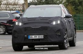 Kia Sportage 2019 facelift spied in Nurburging