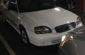 2001 Suzuki Esteem Sedan White For Sale