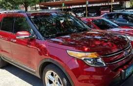 Ford Explorer 2013 AT Red SUV For Sale