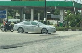 Toyota Camry 2019 in camouflage captured on Thai roads