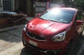Mitsubishi mirage hatchback 2017 model gls red