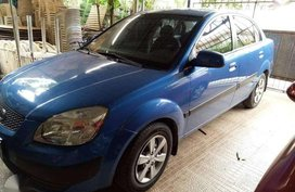 KIA RIO 2008 Blue Sedan For Sale