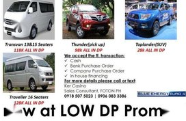 All new FOTON Transvan at LOW DP promo!!! Avail plus 30k cash discount