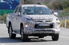 Mitsubishi Strada (Triton) 2019 facelift caught in Europe with new front face