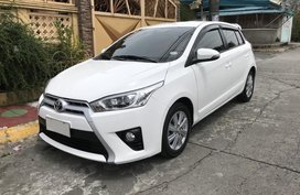 2015 Toyota Yaris G AT Gas White For Sale