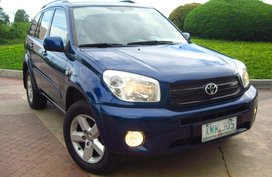 2005 TOYOTA RAV4 BLUE A/T For Sale