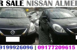 Black Nissan Almera 2015 AT for sale