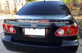 TOYOTA COROLLA ALTIS 2001 (BLACK) top of the line