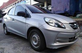 Selling Silver Honda Brio Amaze 2015 Manual Gasoline in Parañaque
