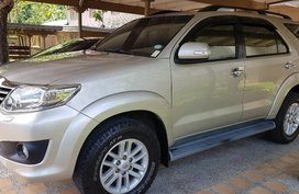 Gold Toyota Fortuner 2012 at 90000 for sale in Olongapo