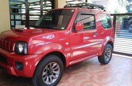 Red Suzuki Jimny 2016 Automatic Gasoline for sale