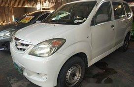 White Toyota Avanza 2009 Manual Gasoline for sale in Quezon City