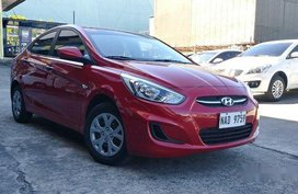 Selling Red Hyundai Accent 2017 Automatic Gasoline